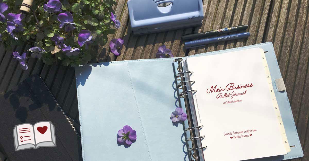 Bullet Journal für Selbständige auf Papier