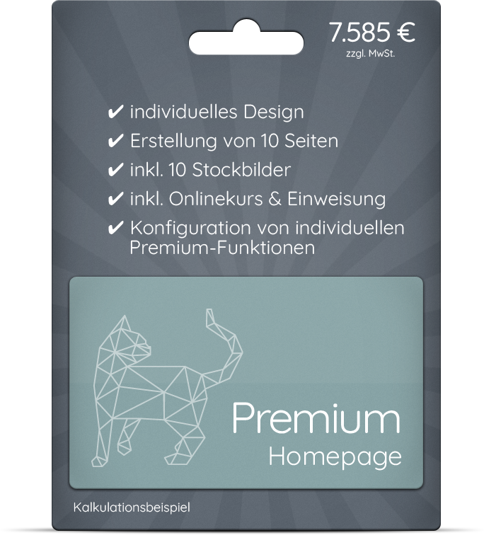 Premium Homepage - für besondere Ansprüche
