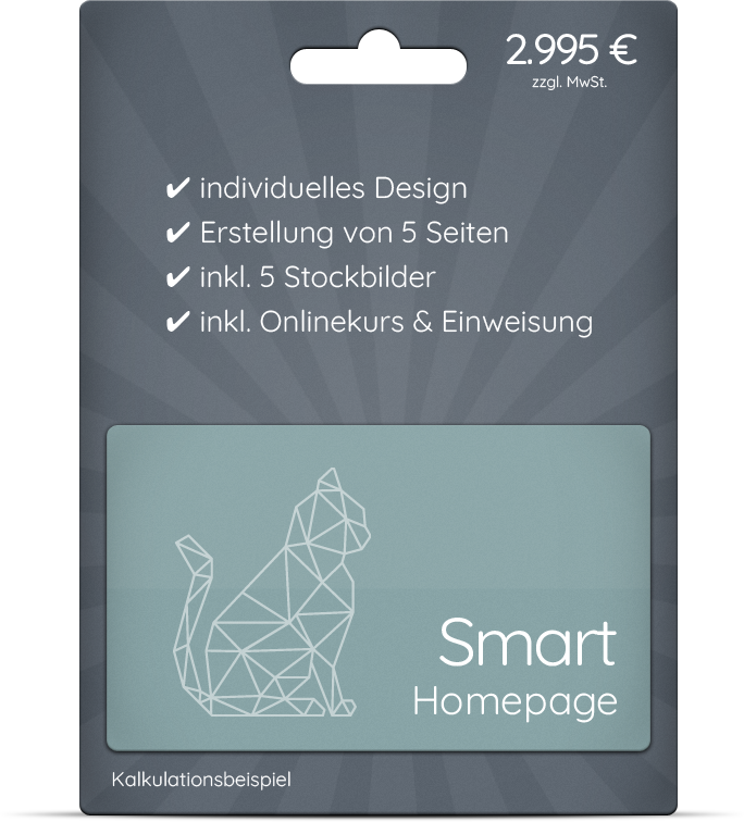 Smart Homepage - ideal für den Start